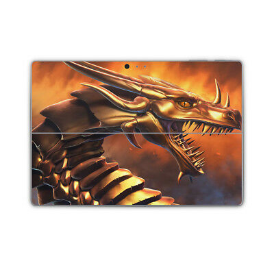 Golden Dragon Vinyl Skin Sticker Wrap Printed Cover to fit Surface Pro Models