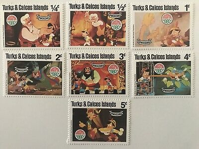 Set Of Walt Disney Productions Pinocchio Stamps TURKS & CAICOS IS.