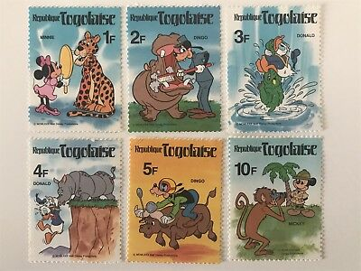 Set Of Walt Disney Productions Mickey Mouse Stamps REPUBLIQUE TOGOLAISE Minnie +