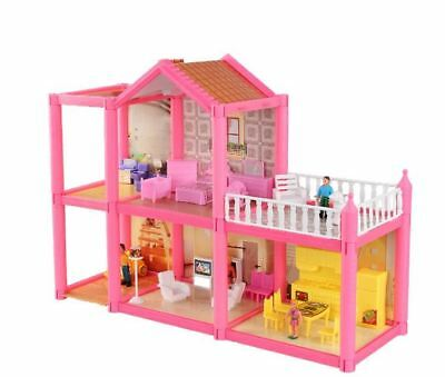 Pretend Play Furniture Toys Wooden Dollhouse Furniture Miniature Toy Set Doll Ho