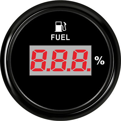 52mm Black Digital Fuel Level Gauge Meter for Car Truck 240-33ohm