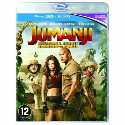 Blu-ray - Jumanji : Bienvenue Dans la Jungle - Edition 3D - Dwayne Johnson, Kevi