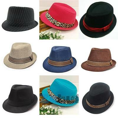 Fashion Toddler Kid Outdoor Fedora Hat Jazz Cap Photography Cotton Trilby Top