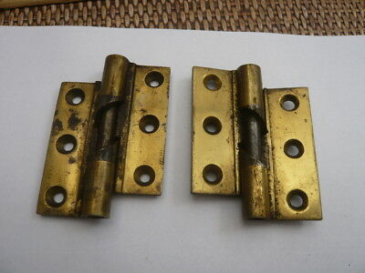 Genuine Antique Vintage Old Brass Rise And Fall Door Hinges 3 Inch Heavy Duty