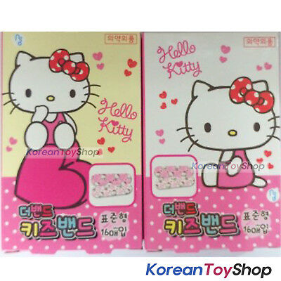 Hello Kitty Cute Band Aid Bandages Standard  2Box (16 Pads x 2 ) Made in Korea