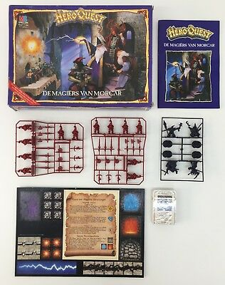 Games Workshop Mb Hero Quest Wizards Of Morcar Dutch Version Complete On Sprue