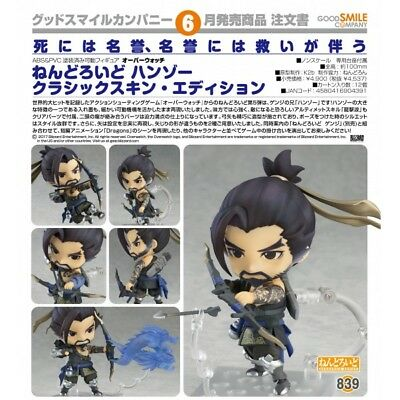 Nendoroid #839 Hanzo Classic Skin Edition Overwatch Authentic IN STOCK USA GSC