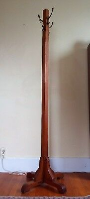 Antique Heywood Wakefield Solid Oak Hall Tree Coat Hanger Hat Rack Arts & Crafts