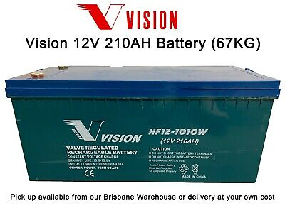 USED VISION deep cycle AGM 12V 200Ah ( HF12-890W ) for Dual battery or Off Grid