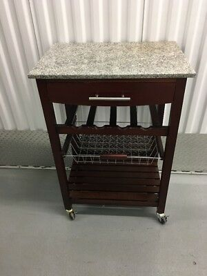 KITCHEN CART ON Wheels Small Rolling Mobile Island Bar Wine ...