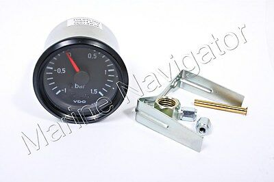 "VDO Cockpit International Turbo Charger Boost Gauge 52mm 2"" 1.5bar 150-035-001G"