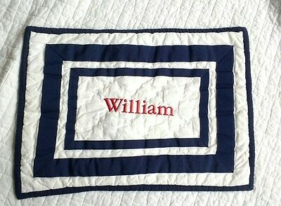 Pottery Barn Kids Baby boy Toddler pillow sham Harper pillow sham navy WILLIAM