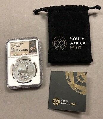 2017 South  Africa Silver Krugerrand - 50th Anniversary NGC SP70 - EARLY RELEASE