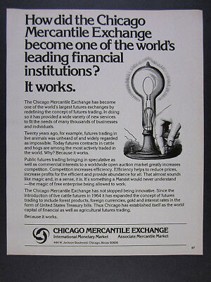 1978 Chicago Mercantile Exchange Futures Trading Innovations vintage print Ad