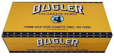 Bugler Gold Light 100MM 100s - 1 Boxes - 200 Tubes Box Tobacco Cigarette