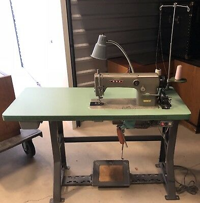 REX 351-2L Commercial Sewing Machine and Table