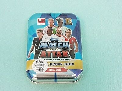 Topps Match Attax 2017/2018  Mini Tin Box a inkl. Limitierte Auflage 17/18