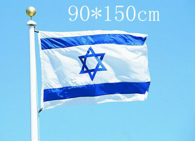 Israel Flag Vivid Color UV Fade Resistant Double Stitched National Flag 3x5 Ft
