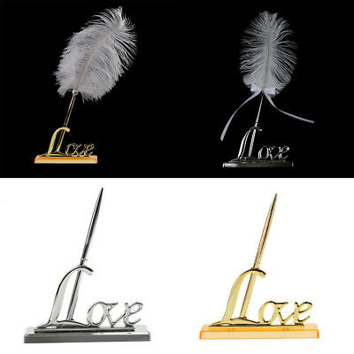 Wedding Engagement Guest Signing Pen with Love Sign Holder Stand Set Gifts