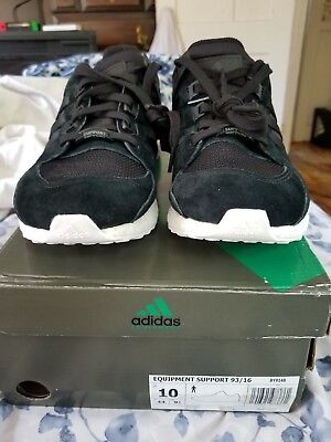 64d912a3b7d0a7 Size 10 Adidas EQT Support Ultra Boost 360 Sole 93 16 OG Black BY9148 Mens