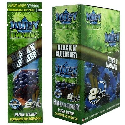 Juicy Jay Black N' Blueberry Wraps- 12 PACKS - Natural 2 Wrap Per Pack Fast