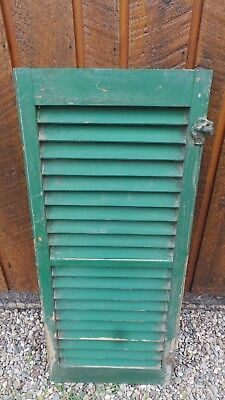 """VINTAGE Old GREEN SHUTTER Wooden 36"""" long x 15"""" Wide Architectural Salvage"""