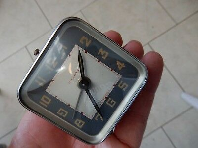 ART DECO ERA  SMALL SQUARE CLOCK  UNTESTED  baynard 55 x 55 x 35 mm
