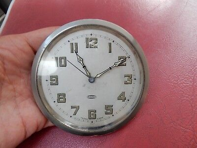 ART DECO ERA   CLOCK  UNTESTED  SWISS  HIGH QUALITY SUIT CAR   LORRY ETC 106 mm