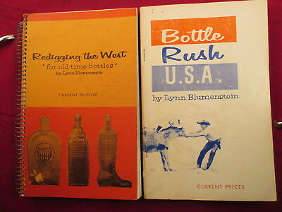 2 Old Bottle Collecting Vintage Reference Books  Guides