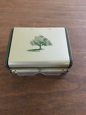 Business Card PORTABLE HOLE PUNCH 3 SLOT ~CIRCA LEVENGER ~CARL ~Rotary File ~Arc