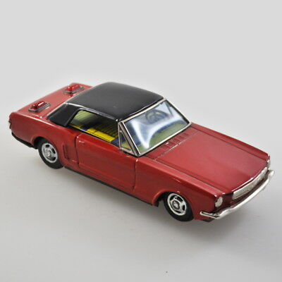 Bandai Ford Mustang - Blechauto - Vintage Tin Toy - Japan - Friktion Beleuchtung