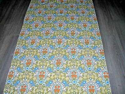 "Vintage 60s 70s Pat Albeck ""Daisy Chain"" floral cotton large fabric length"