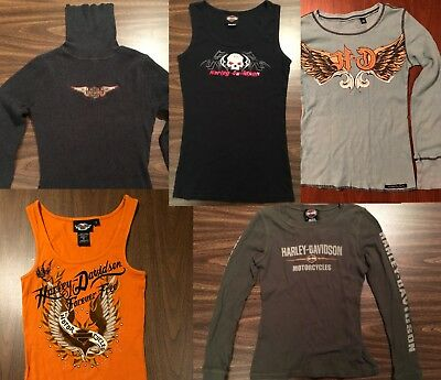 HARLEY DAVIDSON HD Women's Tops GENUINE MOTORCLOTHES Motorcycle EXCELLENT