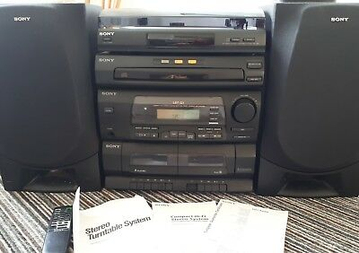 Sony HiFi Stereo System, Turntable & Speakers  LBT-G1 CD Player Stack Unit