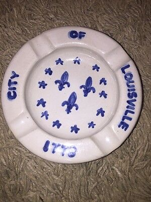 M A Hadley ashtray City of Louisville 1778 Rare Signed on bottom
