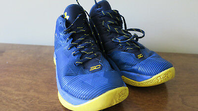 fd5917a53271 Under Armour Kids Steph Curry Basketball Shoe Youth Size 4.5 Blue Yellow