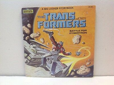 The Transformers Battle For Cybertron 1984 Marvel Books Storybook Earl Norem
