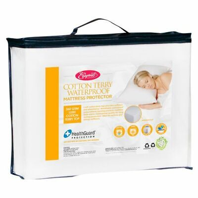 NEW EasyRest Fitted Cotton Terry Waterproof Mattress Protector