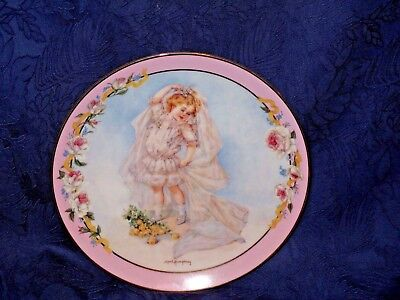 "THE HAMILTON COLLECTION ""Playing Bride"" By Maud Humphrey Bogart Collectors Plate"