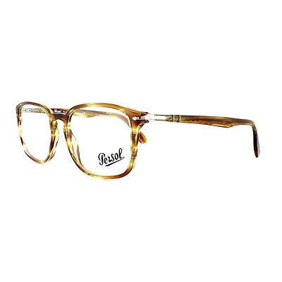226e899c52 NEW ORIGINAL PERSOL 3161-V 1050 Striped Brown Yellow Eyeglass 52mm 19 145  ITALY