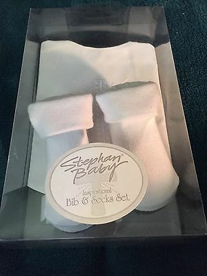 Bib And Sock Gift Set Inspirational Christening NWT