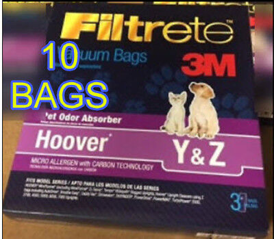 Style Y and Z Vacuum Bags WINDTUNNEL  3M Quality   10 BAGS