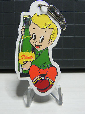 Squirt Soda Key Chain With Little Squirt Boy 1940's Decal