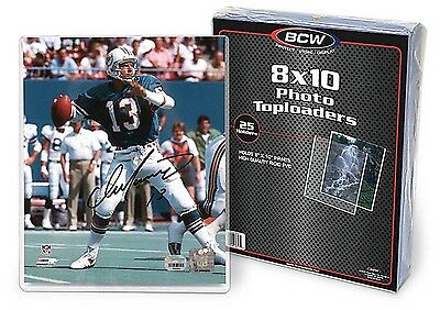 25 BCW 8X10 Photo Hard Plastic Toploaders Photo Protection