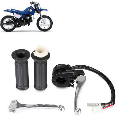 FIT FOR 1985 Yamaha PW50 PY50 Twist Throttle Hand Grips L+R Brake Lever Kit