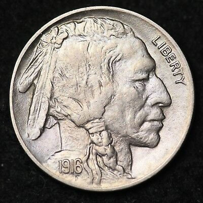 1916 Buffalo Nickel CHOICE UNC FREE SHIPPING E312 RCN