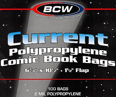 600 BCW Current Bags and Boards Archival Modern Comic Book Storage Supplies