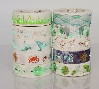 New Collection Glowing Nature plant galaxy washi tape Masking Decorative tape