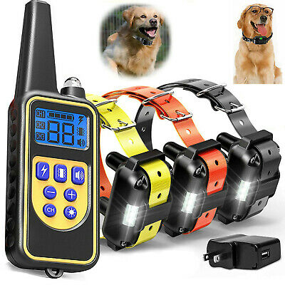 Outdoor Wireless 1/2 Dog Training Shock Collar Fence Pet Electric Trainer System