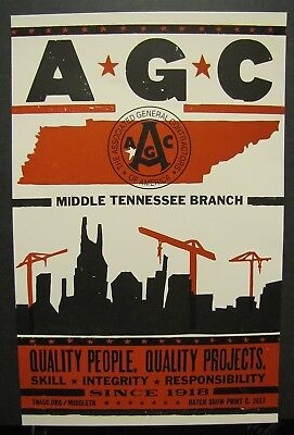 Hatch Show Print AGC Associated General Contractors Middle Tennessee Branch 2017